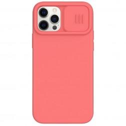 """""""Nillkin"""" CamShield MagSafe dėklas - rožinis (iPhone 12 / 12 Pro)"""