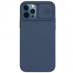 """""""Nillkin"""" CamShield MagSafe dėklas - tamsiai mėlynas (iPhone 12 / 12 Pro)"""