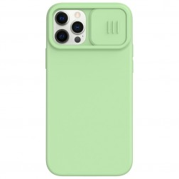 """""""Nillkin"""" CamShield MagSafe dėklas - žalias (iPhone 12 / 12 Pro)"""