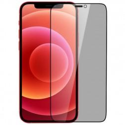 """""""Nillkin"""" Tempered Glass juodas apsauginis ekrano stiklas 0.26 mm - privatumo (iPhone 12 / 12 Pro)"""