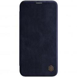"""""""Nillkin"""" Qin atverčiamas dėklas - tamsiai mėlynas (iPhone 12 / 12 Pro)"""