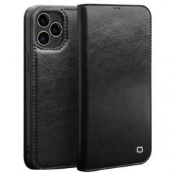 """""""QIALINO"""" atverčiamas dėklas - juodas (iPhone 12 / 12 Pro)"""