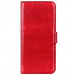 Atverčiamas dėklas, knygutė - raudonas (iPhone 12 / 12 Pro)