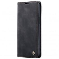 """""""CaseMe"""" Retro solidus atverčiamas dėklas - juodas (iPhone 12 / 12 Pro)"""