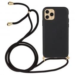 """""""Strap"""" kieto silikono (TPU) dėklas - juodas (iPhone 12 / 12 Pro)"""