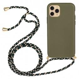 """""""Strap"""" kieto silikono (TPU) dėklas - žalias (iPhone 12 / 12 Pro)"""