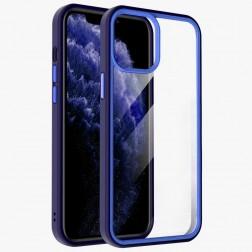 """""""X-Level"""" Colorful dėklas - skaidrus, mėlynas (iPhone 13 Pro Max)"""