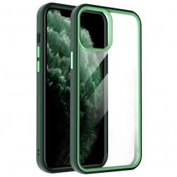 """""""X-Level"""" Colorful dėklas - skaidrus, žalias (iPhone 13 Pro Max)"""