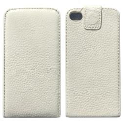Vertikaliai atverčiamas dėklas - baltas (iPhone 4 / 4S)