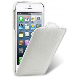 """""""Melkco"""" klasikinis vertikaliai atverčiamas dėklas - baltas (iPhone 4 / 4S)"""