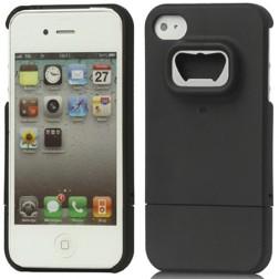 Dėklas atidarytuvas - juodas (iPhone 4 / 4S)