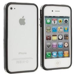 Rėmelis (bamperis) - skaidrus, juodas (iPhone 4 / 4S)