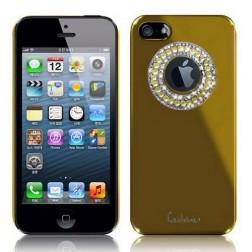 """""""Leshine"""" dėklas - spindintis ratas, auksinis (iPhone 4 / 4S)"""