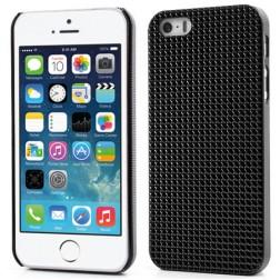 Stilingas reljefinis dėklas - juodas (iPhone 5 / 5S / SE)