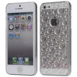 Dėklas su vandens lašų imitacija - skaidrus (iPhone 5 / 5S / SE)