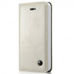 """""""CaseMe"""" solidus atverčiamas dėklas - baltas (iPhone 5 / 5S / SE)"""