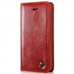 """""""CaseMe"""" solidus atverčiamas dėklas - raudonas (iPhone 5 / 5S / SE)"""