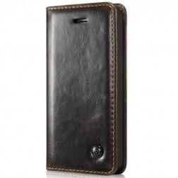 """""""CaseMe"""" solidus atverčiamas dėklas - rudas (iPhone 5 / 5S / SE)"""