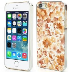Gėlėtas dėklas - oranžinis (iPhone 5 / 5S / SE)