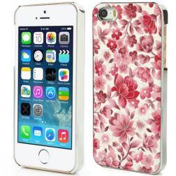 Gėlėtas dėklas - raudonas (iPhone 5 / 5S / SE)