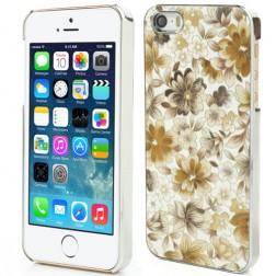 Gėlėtas dėklas - geltonas (iPhone 5 / 5S / SE)