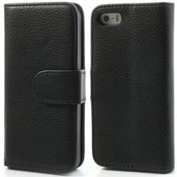 """""""Lychee"""" atverčiamas dėklas - juodas (iPhone 5 / 5S / SE)"""