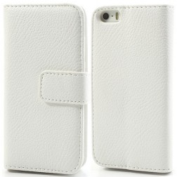 """""""Lychee"""" atverčiamas dėklas - baltas (iPhone 5 / 5S / SE)"""
