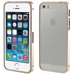 Stilingas rėmelis (bamperis) - šampaninis (iPhone 5 / 5S / SE)
