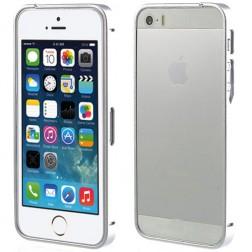 Stilingas rėmelis (bamperis) - sidabrinis (iPhone 5 / 5S / SE)