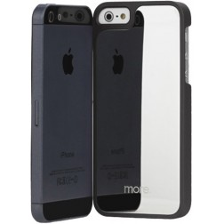 """""""More"""" veidrodinis dėklas - juodas (iPhone 5 / 5S / SE)"""