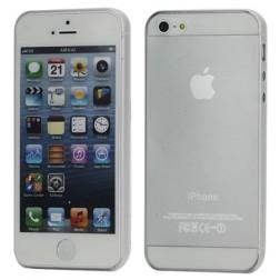 Ploniausias pasaulyje dėklas - skaidrus, baltas (iPhone 5 / 5S / SE)