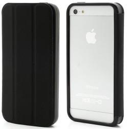 Atverčiamas rėmelis (bamperis) - juodas (iPhone 5 / 5S / SE)