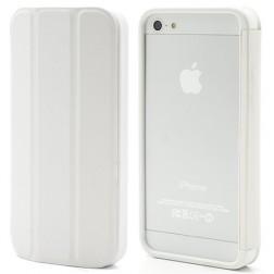 Atverčiamas rėmelis (bamperis) - baltas (iPhone 5 / 5S / SE)