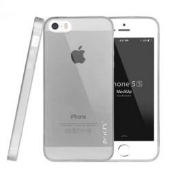 """""""Leiers"""" TPU skaidrus dėklas - pilkas (iPhone 5 / 5S / SE)"""