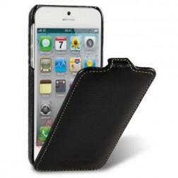 """""""Melkco"""" klasikinis vertikaliai atverčiamas dėklas - juodas (iPhone 5 / 5S / SE)"""