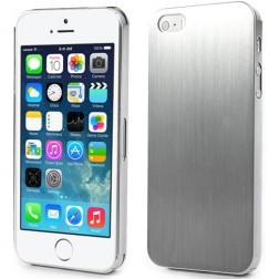 Šlifuoto metalo dėklas - sidabrinis (iPhone 5 / 5S / SE)