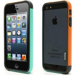 """""""Walnutt"""" Trio rėmelis (bamperis) - oranžinis / mėtinis (iPhone 5 / 5S / SE)"""