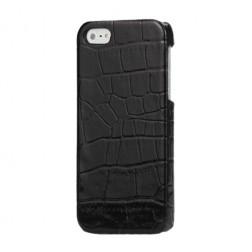 Dėklas su krokodilo odos imitacija - juodas (iPhone 5 / 5S / SE)