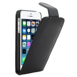 Klasikinis atverčiamas dėklas - juodas (iPhone 5 / 5S / SE)