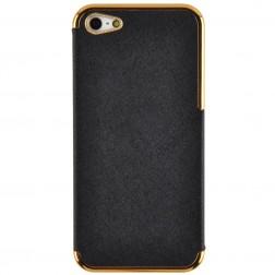 """""""Gold""""elegantiškas dėklas - juodas (iPhone 5 / 5S / SE)"""