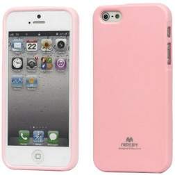 """""""Mercury"""" Color dėklas - rožinis (iPhone 5 / 5S / SE)"""