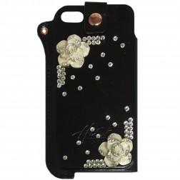 Fashion Leather įmautė - juoda (iPhone 5 / 5S / SE)
