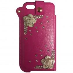 Fashion Leather įmautė - rožinė (iPhone 5 / 5S / SE)