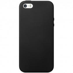 Kieto silikono (TPU) dėklas - juodas (iPhone 5 / 5S / SE)