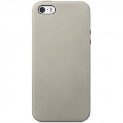 Kieto silikono (TPU) dėklas - smėlio spalvos (iPhone 5 / 5S / SE)