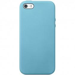 Kieto silikono (TPU) dėklas - šviesiai mėlynas (iPhone 5 / 5S / SE)