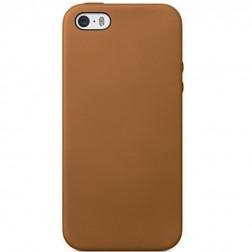 Kieto silikono (TPU) dėklas - šviesiai rudas (iPhone 5 / 5S / SE)