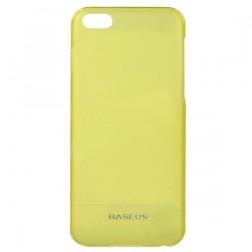 """""""Baseus"""" plastikinis dėklas - geltonas + apsauginė ekrano plėvelė (iPhone 5C)"""
