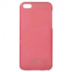 """""""Baseus"""" plastikinis dėklas - rožinis + apsauginė ekrano plėvelė (iPhone 5C)"""