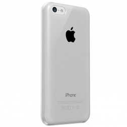 Ploniausias pasaulyje dėklas - skaidrus, baltas (iPhone 5c)